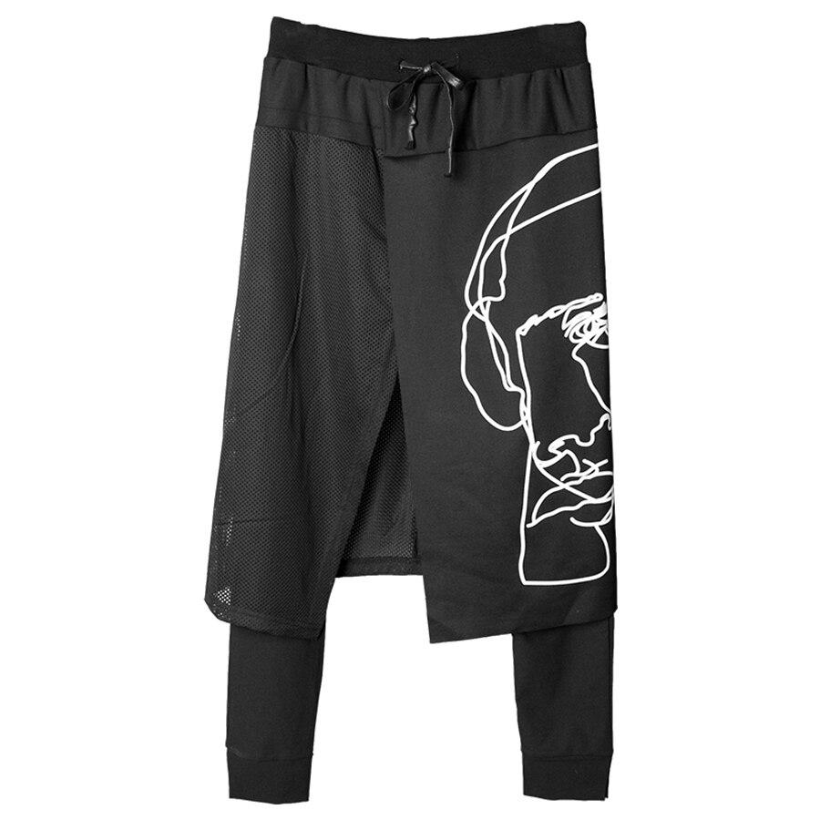 Culottes Pantalon Hommes Kilt Mode Streetwear pantalons de Survêtement Hommes Pantalones Hombre hip hop Justin Bieber Harem Hommes Pantalon Gothique 6D