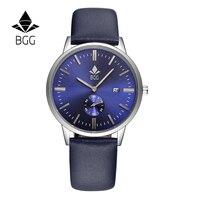 2016 Top Brand Luxury Men S Fashion Watches Ultra Slim Men Calendar Quartz Watch Waterproof BGG