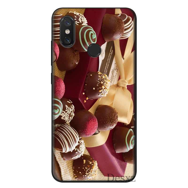 Gerleek TPU Cassa Del Telefono Delle Cellule Morbida Per Xiaomi Redmi 6 5 5A 6A Pro Plus 4A 4X ANDARE 7 S2 duro della copertura del Sacchetto di Cioccolato Borsette