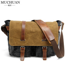New Mens shoulder batik waterproof canvas bag retro leisure Xiekua package bag color Metrosexual bag