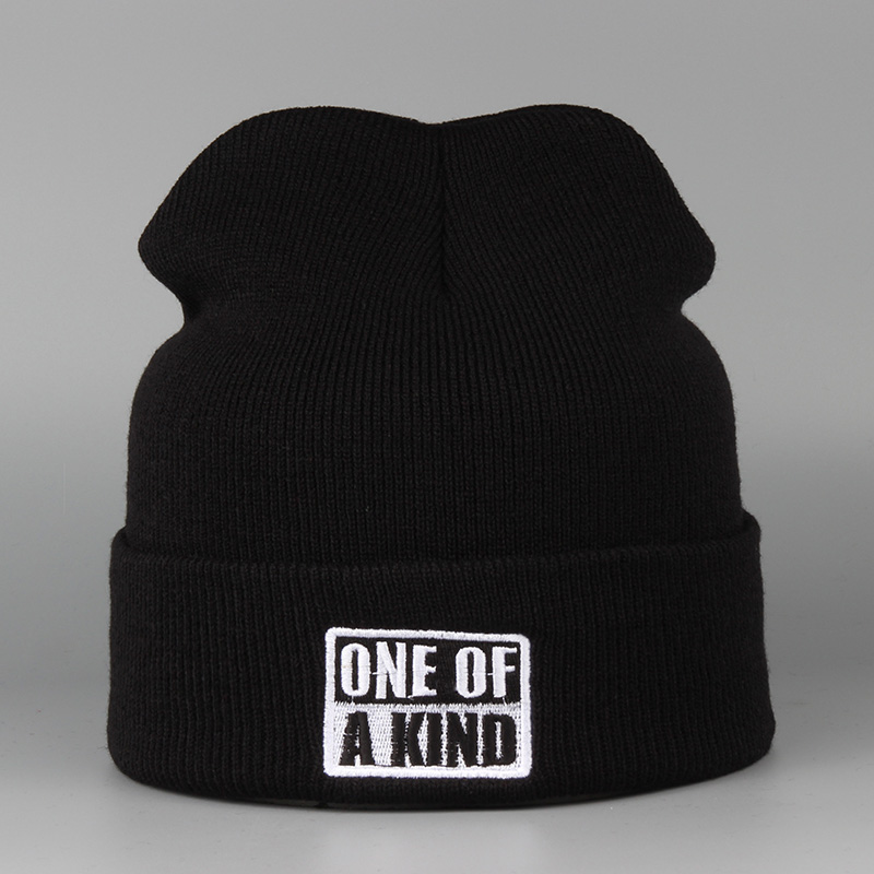 ONE OF A KIND Fashion Knitted Warm Toucas Beanies Ski Skullies Winter Hats For Men And Women Female Gorros Bonnets Mask Caps unisex 1d one direction letter hats gorros bonnets winter cap skullies beanie female hihop knitted hat toucas with pompom ball