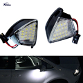 2Pcs Error Free LED Under Side Mirror Light Puddle Lamp for VW Golf 5 MK5 MKV R36 Passat b6 Jetta Eos