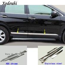 Для Honda CRV CR-V 2012 2013 2014 2015 2016 стайлинга автомобилей боковой двери отделкой полосы литья поток лампы панель бампер вытяжки 4 шт