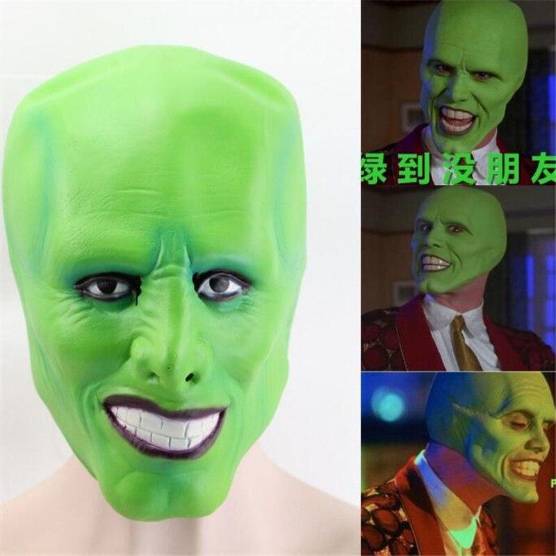 Halloween Die Maske Jim Carrey Maske Cosplay Kostüme Ball Karneval Party Requisiten Terror Latex Hauben