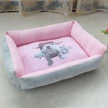 3D принт для питомцев, собак, кошек, диван-кровать, домик для питбуля, маленьких и средних собак, Зимняя Теплая Флисовая кровать для собак, щенков, питомника, гнездо, коврик для собак, подушка