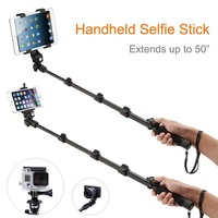 Selfie Monopod Stand+Self Camera Bluetooth Remote Tablet Mount Holder for iPad Air 2,3,4 Tablets PC Cellphones Camera Gopro