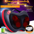 JinKaiRui Kneading Rechargeable Electric Neck Back Relaxation Pillow Massage Devices Cushion Shiatsu Massager with Heat Car Home