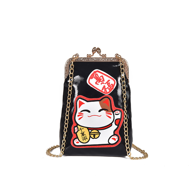 034cc43760 Japanese Women Retro Messenger Bag Cat Print Simple Shoulder Wild Mini Chain  Bag-in Shoulder Bags from Luggage   Bags on Aliexpress.com