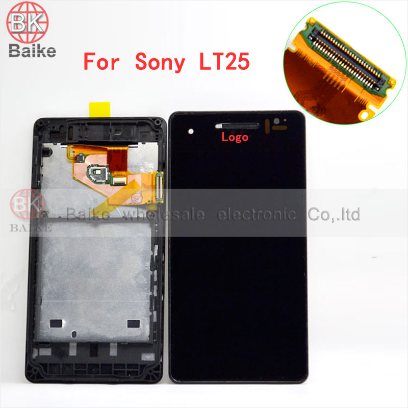 ФОТО Original for Sony Xperia V LT25i LT25 LCD Display Touch Screen Digitizer Assembly + Bezel Frame 100% Tested