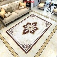 beibehang Custom size European marble water knife parquet tile self-adhesive floor stickers PVC material floor painting behang цена 2017