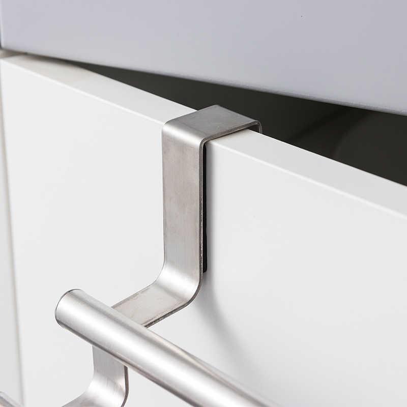 Kitchen Towel Holder Cabinet Hanging Stainless Steel Rack Hanger Bathroom Door