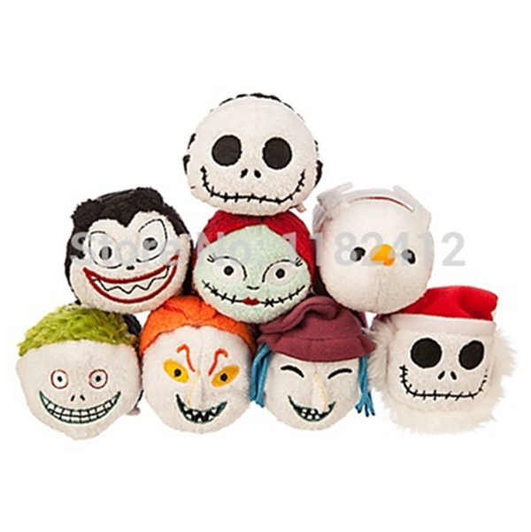 tsum tsum mini plush nightmare before christmas jack skellington sally zero dog vampire teddy barrel shock - Christmas Jack Skellington