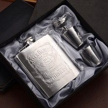 OUSSIRRO 7oz Stainless Steel hip flask with Box as Gift Whiskey Honest Flask Bottle Mug Wisky Jerry Can flask цена и фото