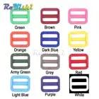 1000pcs/pack 1 (25mm)Colorful Triglides Adjust Buckle For Dog Collar Harness Backpack Strap - 1