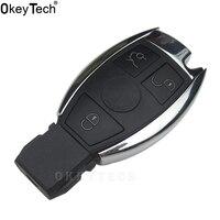 OkeyTech Nieuwe Afstandsbediening Hoge Kwaliteit Autosleutel Shell Case 3 knoppen Fob voor Mercedes Benz Auto Accessoires Vervanging Key Cover Case