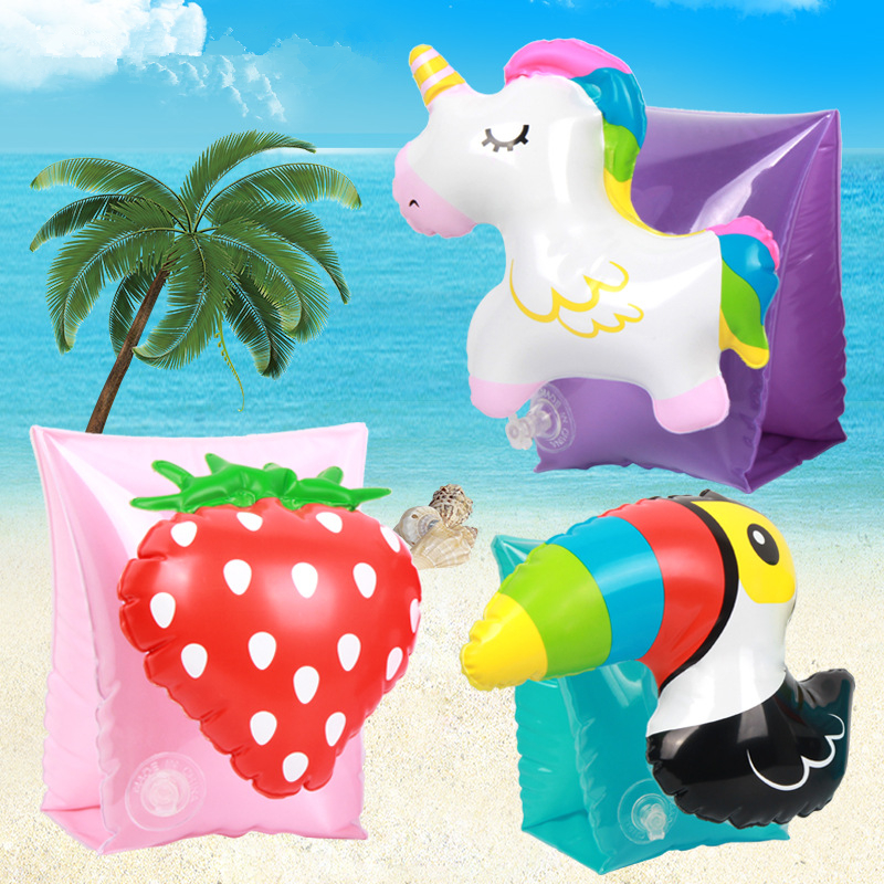 Child Cartoon Swim Pool Swimming Arm Ring Safety Training Beach Unicorn Swimming Arm Circle Float Ring