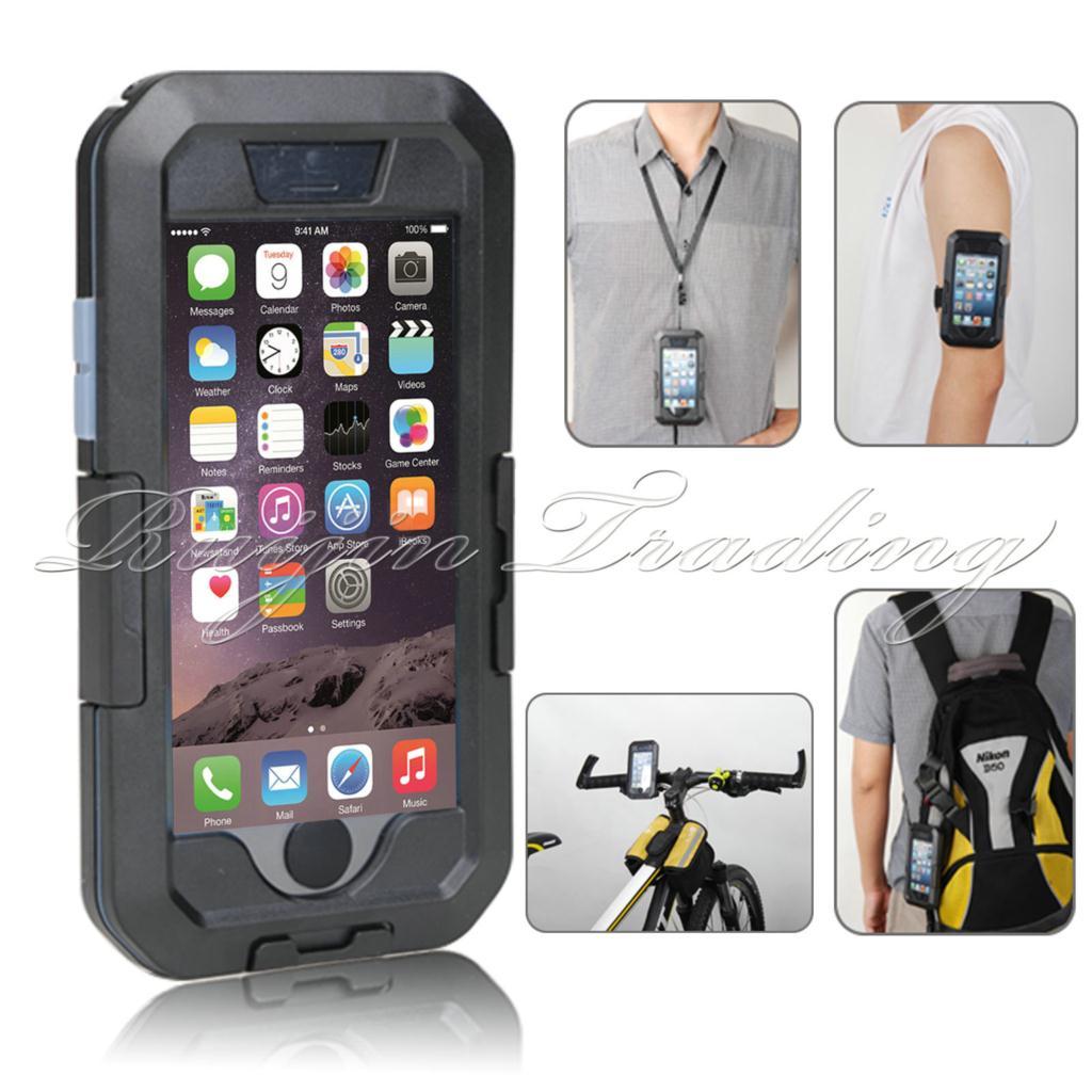 imágenes para Para el iphone 6 s 5S 6 Más Caja Del Teléfono Multifunción Impermeable IPX8 Superior Bici de La Motocicleta Deportes manillar Titular de Montaje