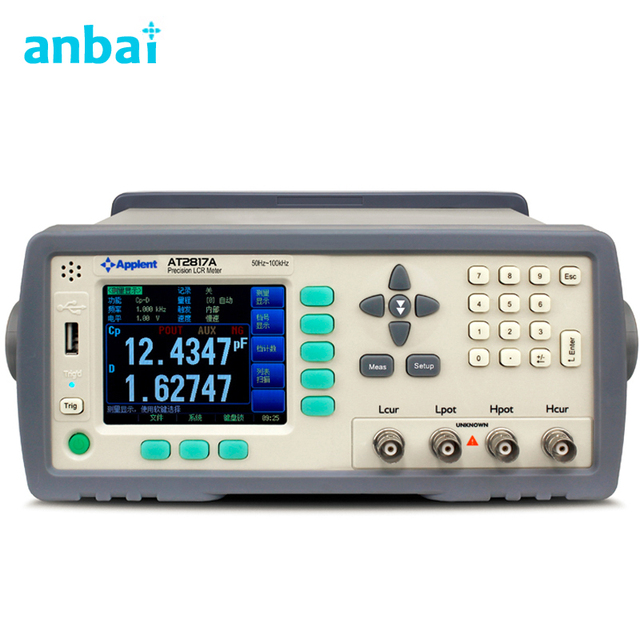 High Precision Digital LCR Meter Frequency 50Hz - 100kHz (16 points) AT2817A