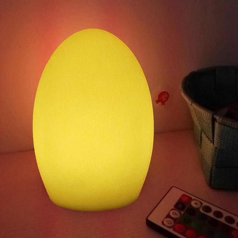 Skybesstech D10 * H15cm RGBW LED Ei Licht Glühende Tischlampe - Nachtlichter - Foto 2