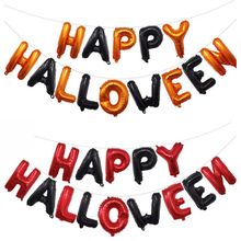 16inch Happy Halloween Balloons banner Set Decoration Foil Horror Party Banner Christmas Favor