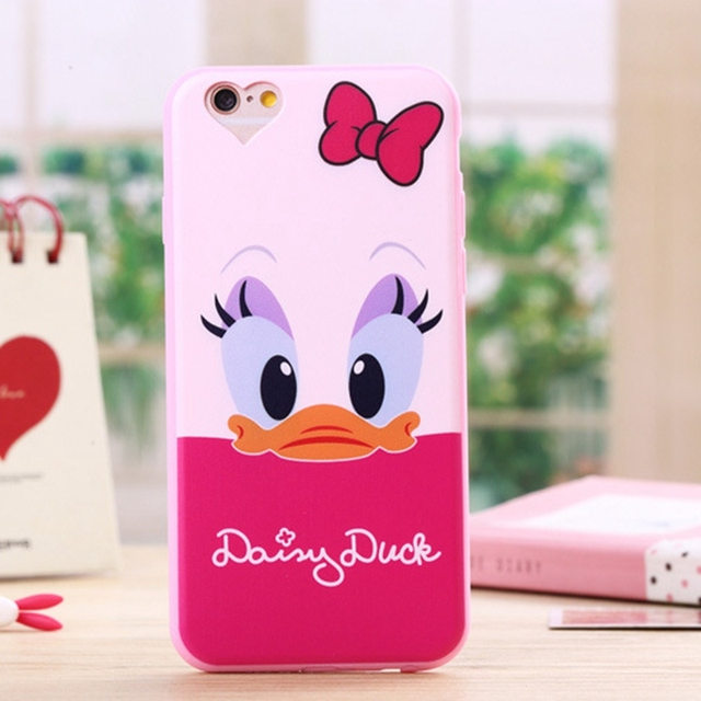 Soft Silicone Case for Iphone 5 5s SE Cute Cartoon Minnie Mickey Mouse Donald Phone Cover for Iphone 5s Cases
