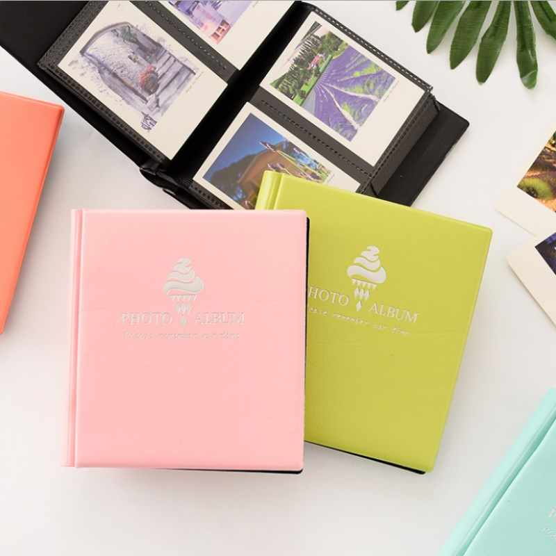 100 Pockets Polaroid Photo Album 3 inch Ice Cream Mini Instant Picture Family Memory Baby DIY Scrapbook Album  Inset Album