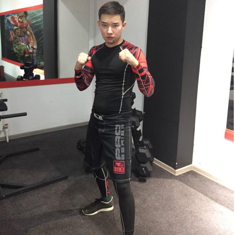 Men's Fitness Suit Sports Compression Underwear 1-3 Piece Suit Jogging Suit Tracksuit  MMA Rashguard Jiu Jitsu Tactical Training