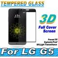 Nuevo protector de pantalla templado protector de pantalla de cristal curvado de la cubierta completa para lg g5 h830
