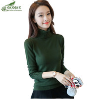 Autumn Winter New Women Knit Sweater Wild High Collar Primer Shirt Twist Thickened Long Sleeves Warm