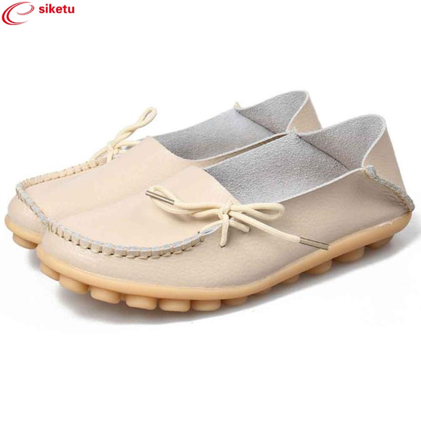 siketu Best Gift New Women Leather Shoes Loafers Soft Leisure Flats Female Casual Shoes Wholesale Drop Shipping Dec30#3 charming nice siketu best gift baby flats tassel soft sole cow leather shoes infant boy girl flats toddler moccasin y30