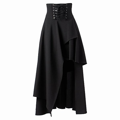 Free Shipping  Gothic Lolita Punk Long Skirt Women Plus Size S ~ XXL High Waist Bandage Skirt