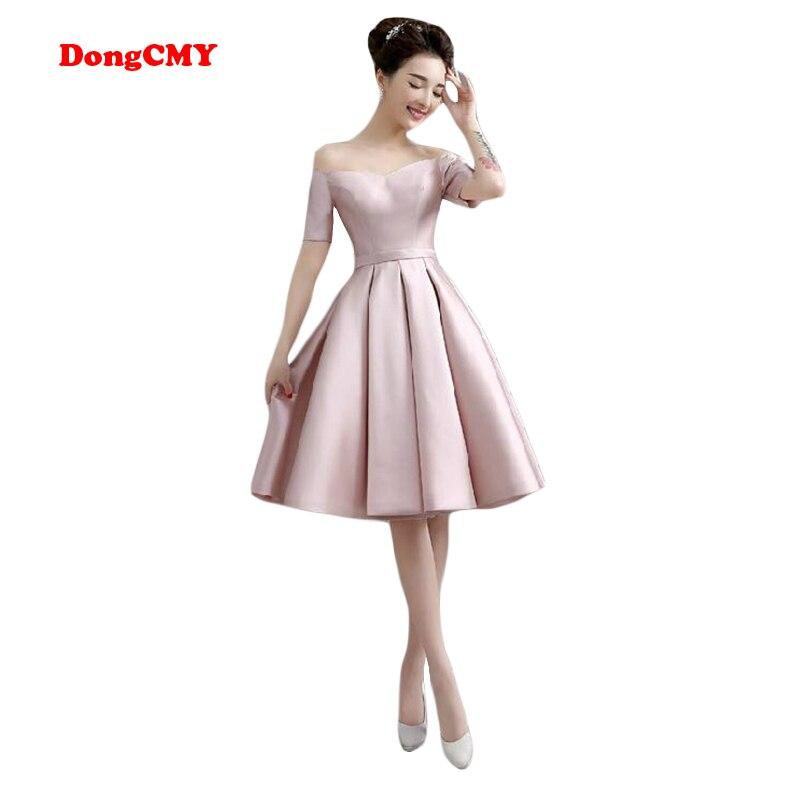 Dongcmy WT10688 Nuevo 2018 tamaño más corto casado sexy Girl party vestidos  vestido de cóctel envío gratuito fa06566a4e33