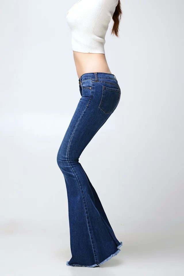 Uwback Jeans For Women 2019 Flared Jeans Women Flare Retro Style Bell Bottom Skinny Jeans Female Sexy Jeans Woman TB846
