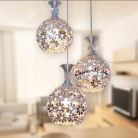 3HEAD crystal light ball aluminum pendant light child real dining room pendant light FG964
