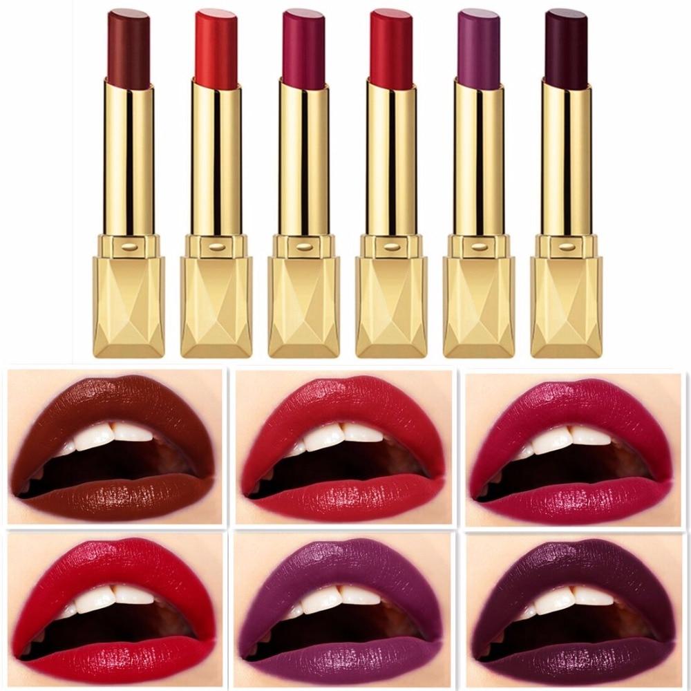 Beauty Matte Lipstick Long Lasting Cosmetics Maquiagem Women Makeup Red Batom Pigments Waterproof Lip Stick Pintalabios Mate 22