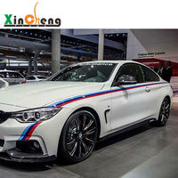 Vehicle Body Waist Line Drawing Flowers Modified Car Stickers Case For BMW 3 Series 5 Series