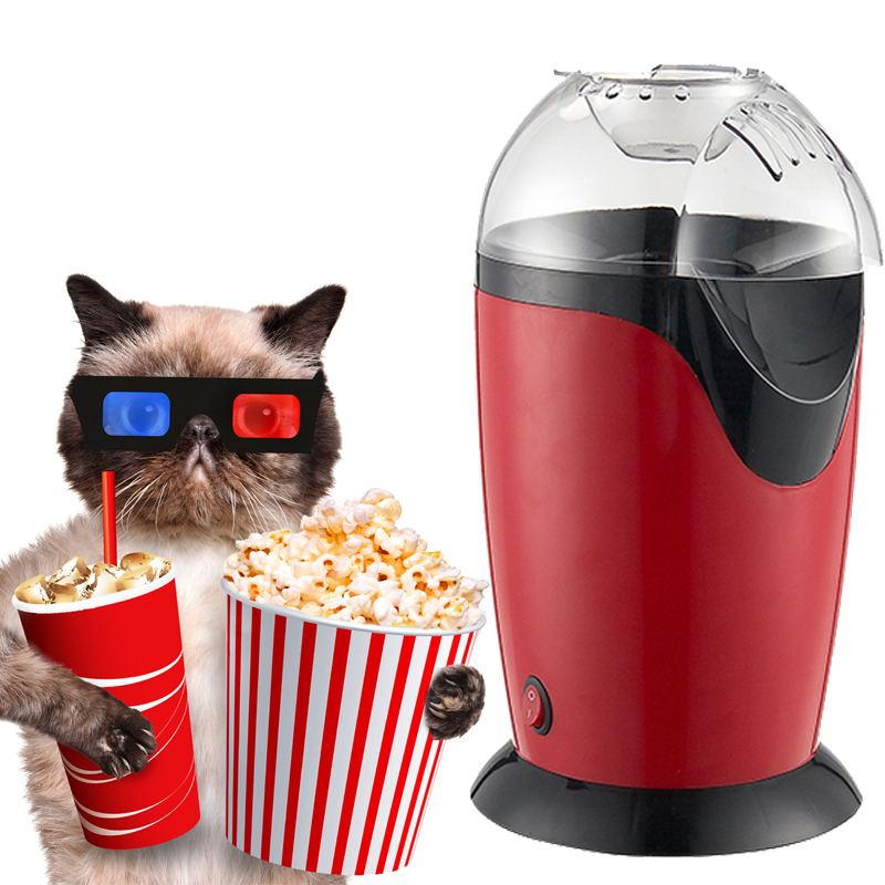 Mini Household Eletric Popcorn Maker Popper Machine Hot Air Automatic Popper Christmas Birthday Party Supplies цена и фото