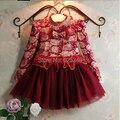 2017 Crianças vestido de Criança, marca bebê meninas vestido floral, vestido de natal, top designer de roupas infantis vestido de Baile com Espumante