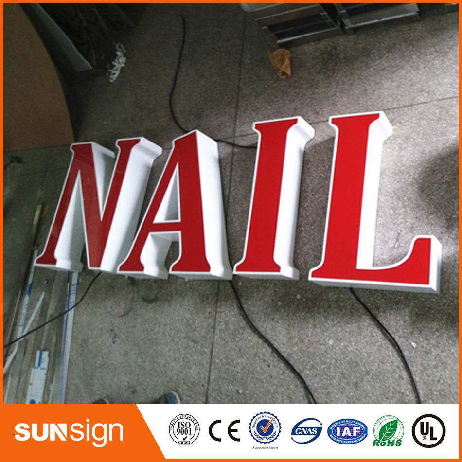 Frontlit Outdoor Stainless Steel Sign LED Channel Letter