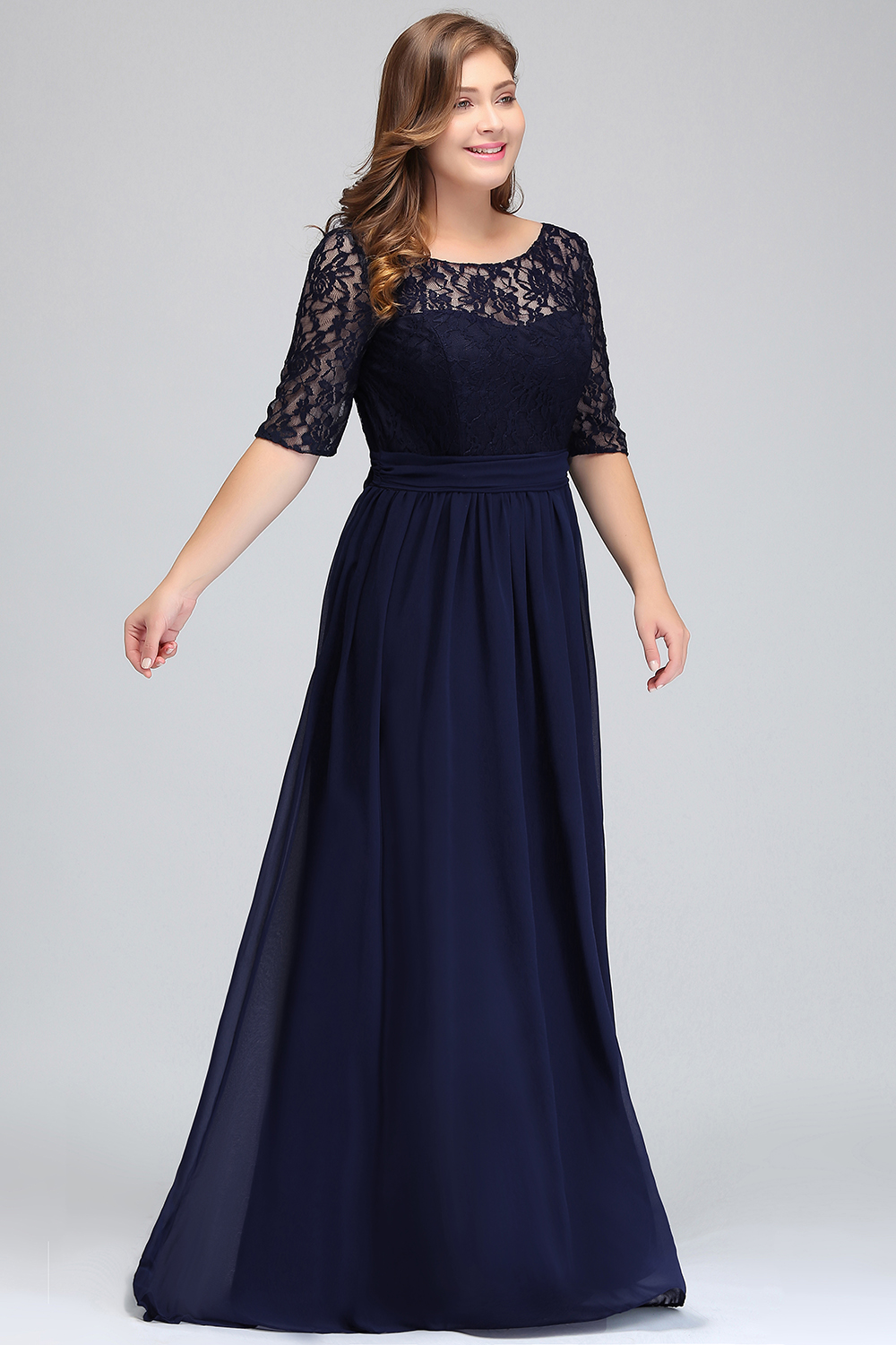 US $35.99 25% OFF|2019 Long Cheap Bridesmaid Dresses Under 50$ Floor Length  Lace Plus Size Bridesmaid Dress Vestido De Madrinha De Casamento Longo-in  ...