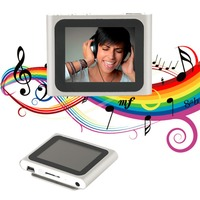 Portable Size 1 8 Inch LCD Screen Display 6th Generation Music Media Video Movie FM Radio