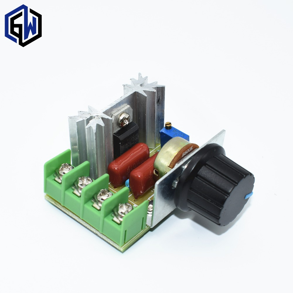 10pcs 2000W 220V SCR Electronic Voltage Regulator Module Speed Control Controller Worldwide Store