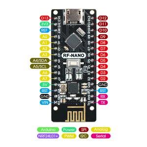 Image 2 - نانو V3.0 مع NRF24l01 + ، المصغّر usb ، ATmega328P ، 2.4G اللاسلكية لاردوينو QFN32 5V CH340 برنامج تشغيل USB نانو مجلس مع بووتلوأدر