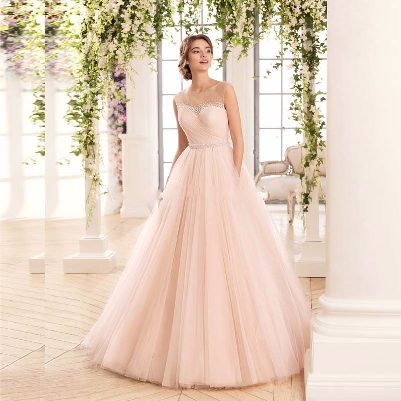 Pearl Pink Wedding Dress