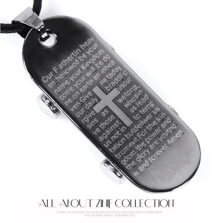 new unique designer mens military army style cross islamic dog tags