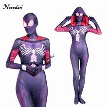 3D Stampa Spider Gwen Stacy Black Spider Costume Donne di Età Cosplay Zentai Suit Spandex Femminile di Halloween Tuta Catsuit