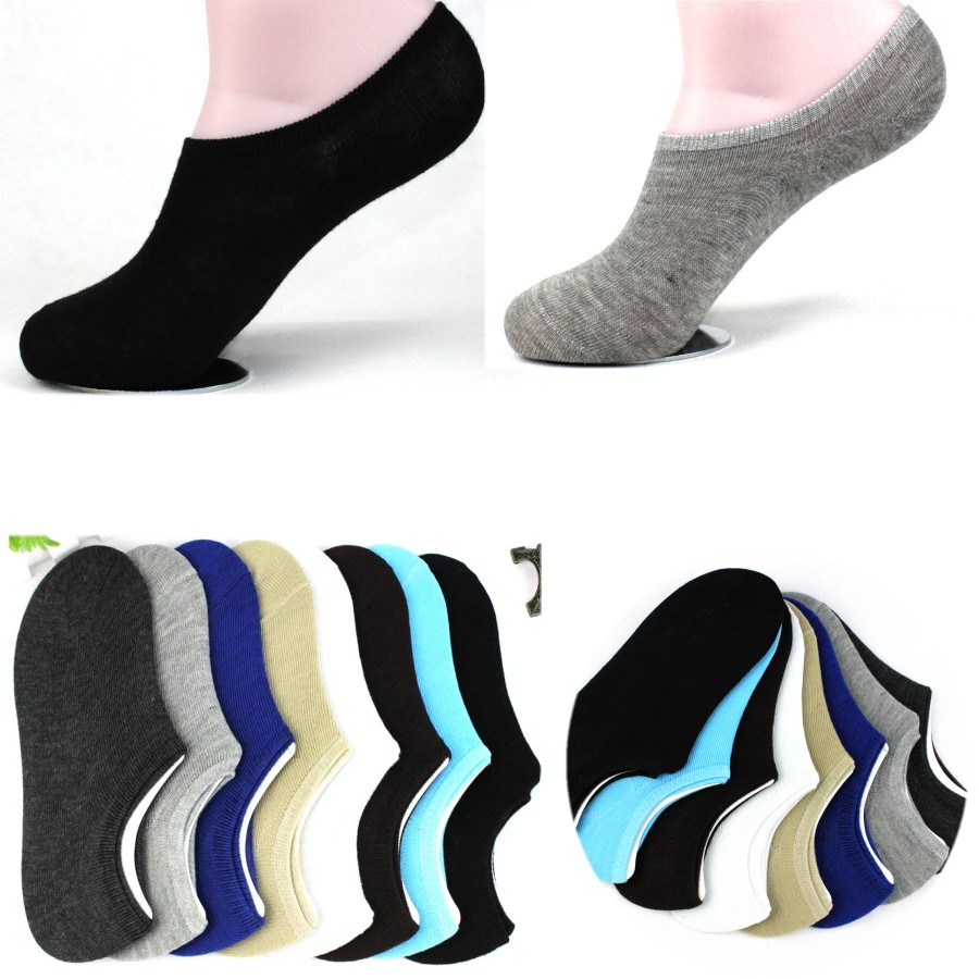 Unisex 1 Pair Men Women Low Cut Ankle Socks Casual Soft Cotton Loafer Boat Non Slip