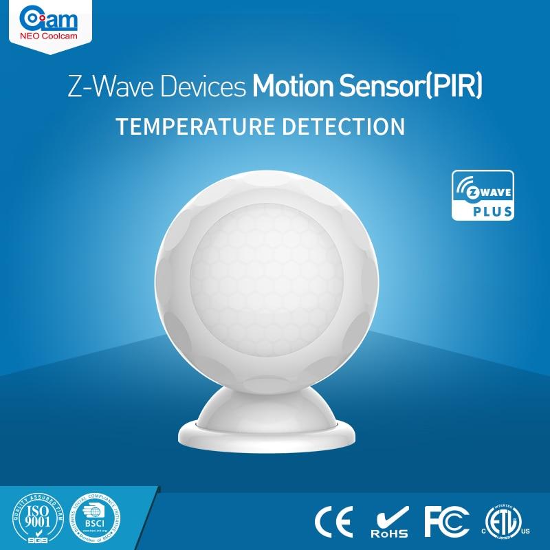NEO Coolcam NAS-PD02ZT Z-wave PIR Motion Sensor Detector+Temperature Sensor Home Automation Alarm System Motion Alarm neo coolcam nas pd01z z wave pir motion sensor detector home automation alarm system motion alarm z wave security