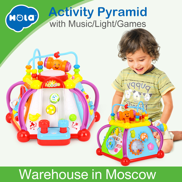 Baby Toys Happy Small World Puzzle Brinquedos para Bebe Early Development Toys Multifunctional Game Toys for Children Xmas Gifts