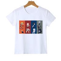 New Short Sleeve O-neck Cartoon T Shirts Boy Baby Girl Summer Kid Anime Naruto T-shirt Tops Brand Quality Z38-15